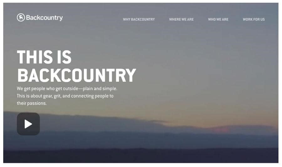design of backcountrys ecommerce site for conversion