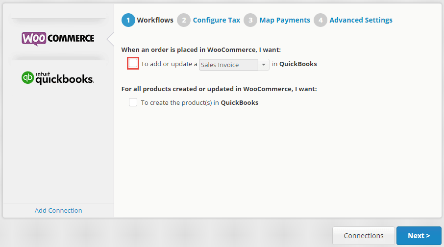 woocommerce quickbooks integration