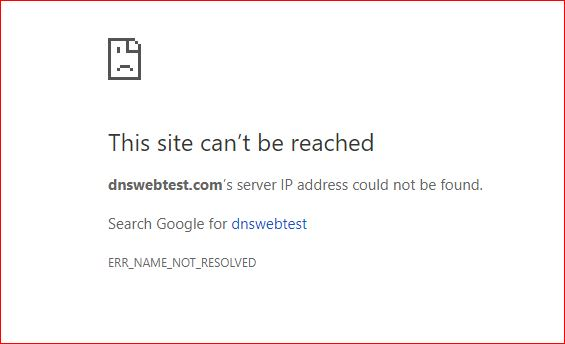 "Error Page ""IP Address Not Found"""