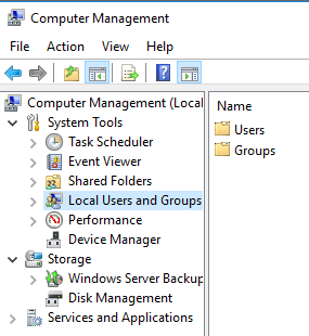 Local Users and Groups