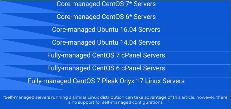Liquid Web Server Types