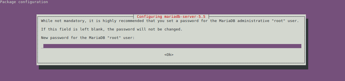 Changing the MySQL root password is advised when upgrading.