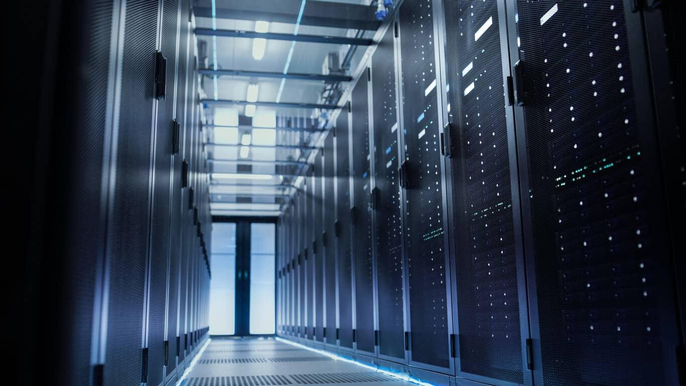 Data center housing customer managed hosting servers.