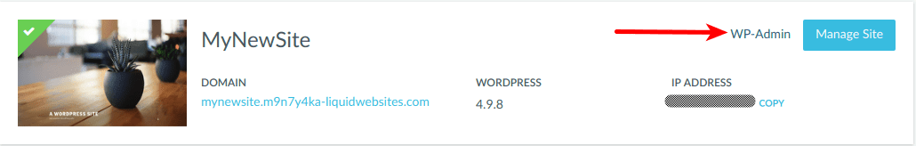 """Click on the """"Lost Password?"""" link to retreive WordPress Credentials."""