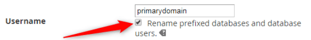 changing the Username