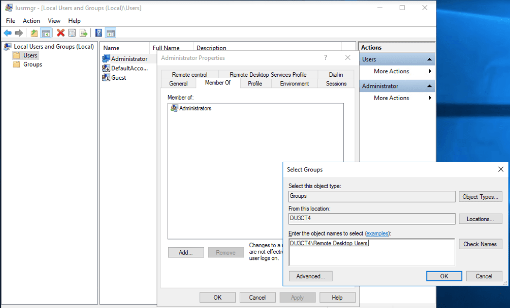 In a windows server, by right-clicking the User folder you can do a variety of tasks like adding a new user.