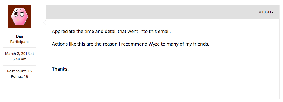 email from wyze apology reputation management