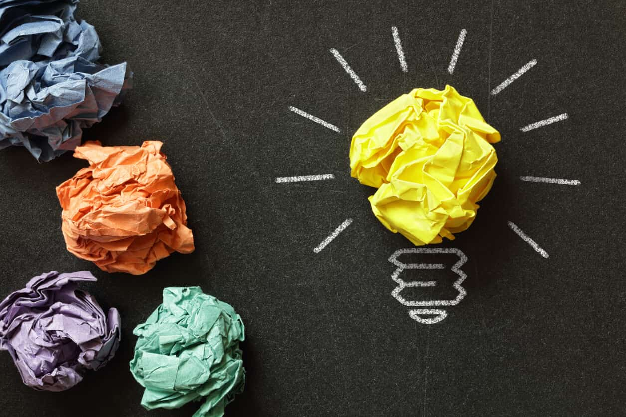new content marketing ideas with brainstorming
