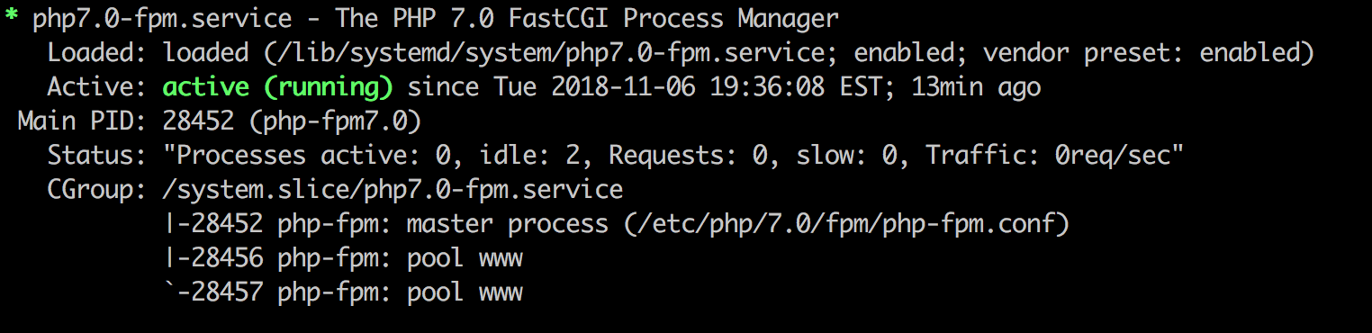Check your PHP version is running and using the correct version.