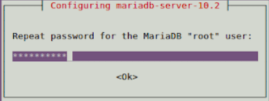 When first setting up MariaDB, you'll be asked to confirm your root password.