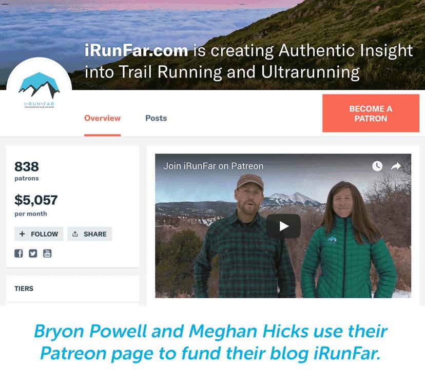 i run far funding for trailrunning blog