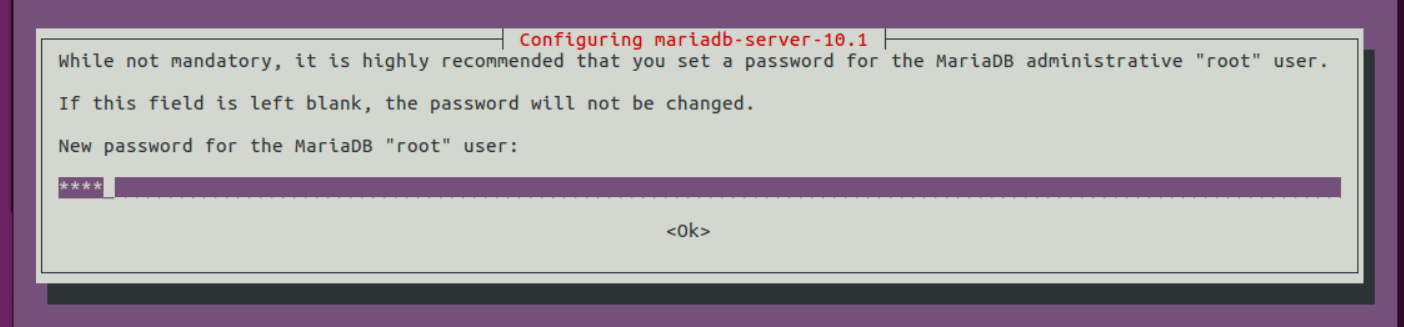 If you have installed MariaDB 10.1 installed correctly you'll come across this prompt.