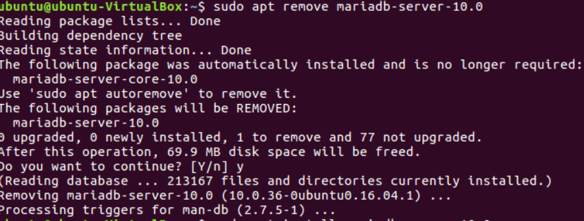 When removing the old version of MariaDB you must first take a backup.