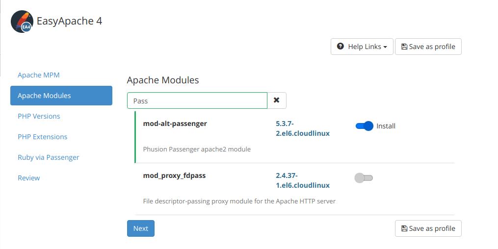 install alt mod passenger