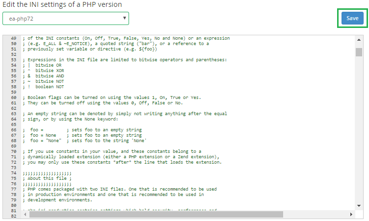 command line edit php ini version