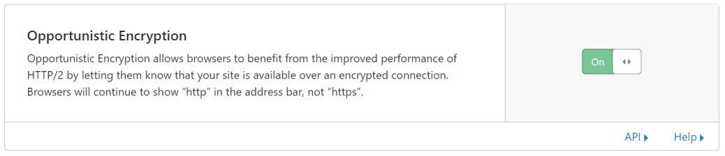 Opportunistic Encryption: ON