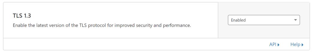 TLS 1.3: Enabled