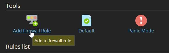 firewall add rule