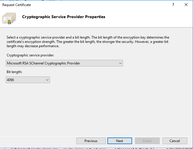 cryptographic server provider properties