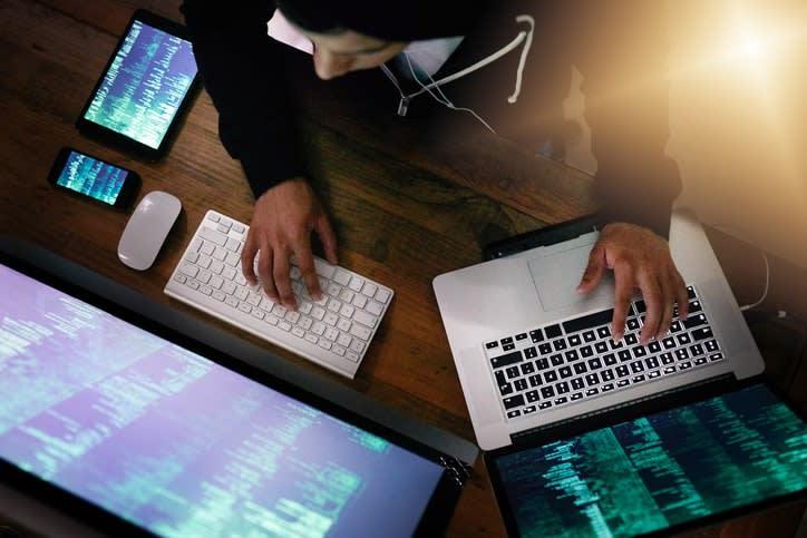 hacker exploiting security vulnerability