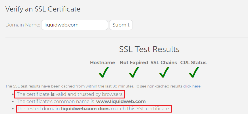 lw sslchecker valid test