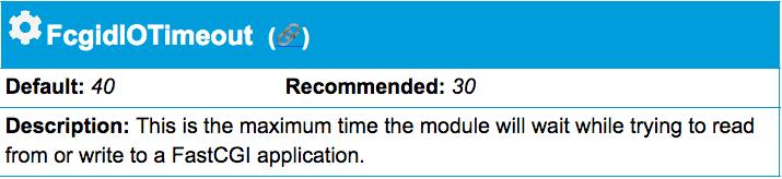 Apache Timeout directive