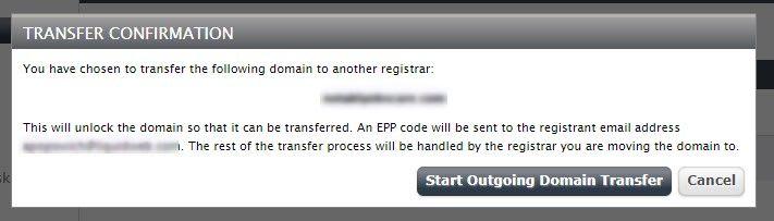 transfer confirmation dialog box