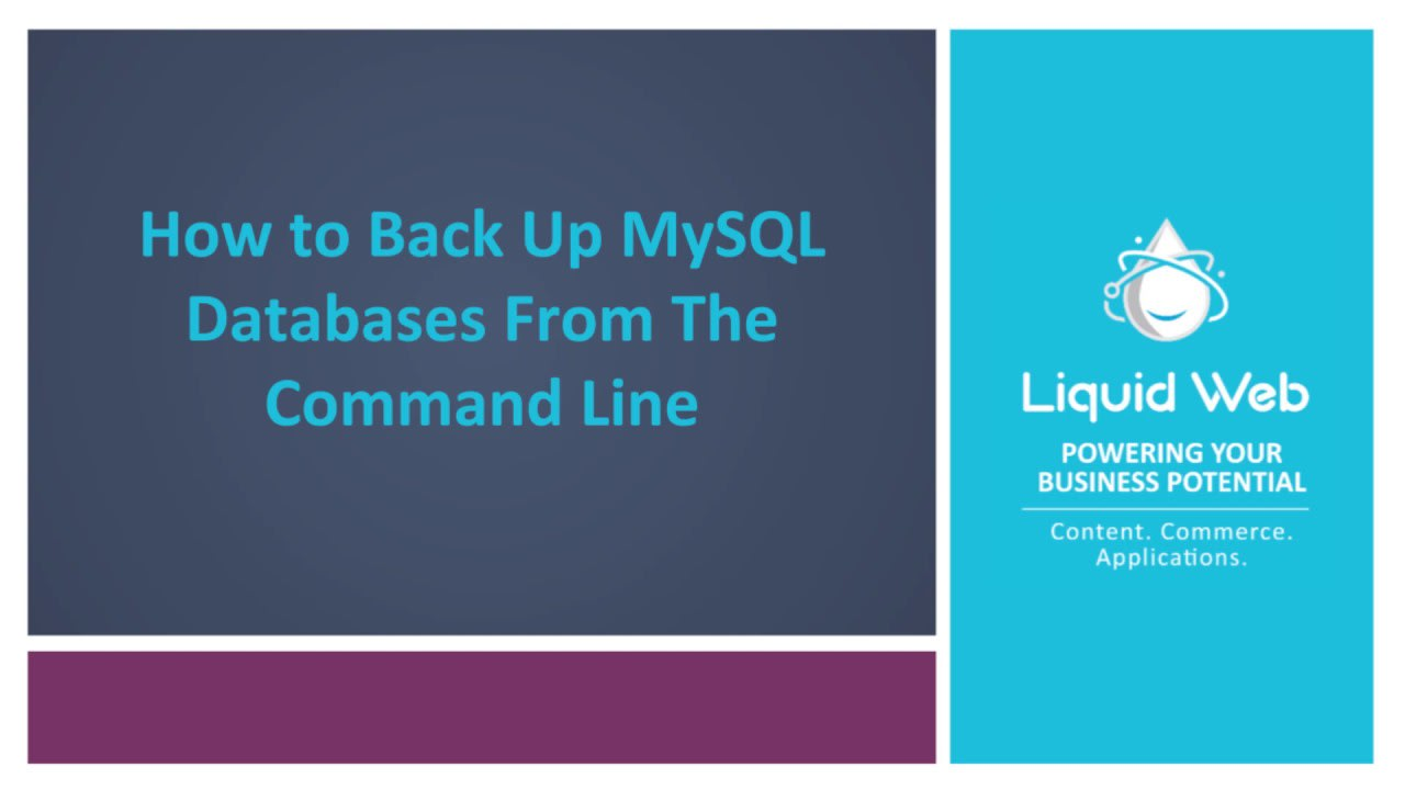 How to Back Up And Restore MySQL Databases From The Command Line