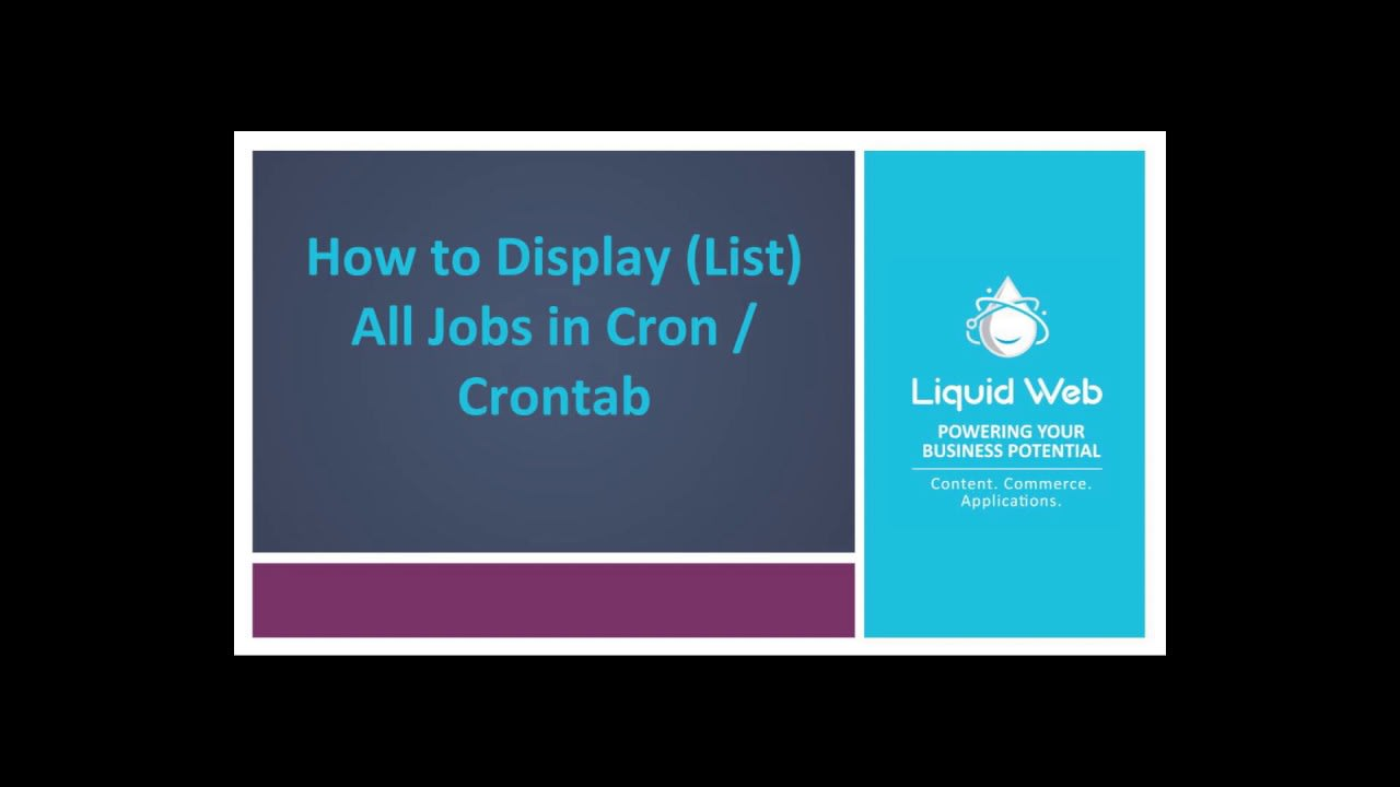 How to Display (List) All Jobs in Cron / Crontab