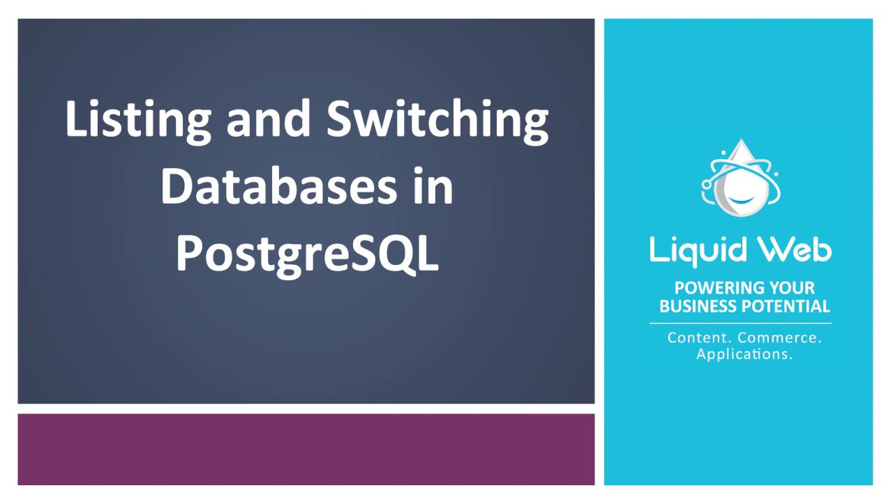 Listing and Switching Databases in PostgreSQL