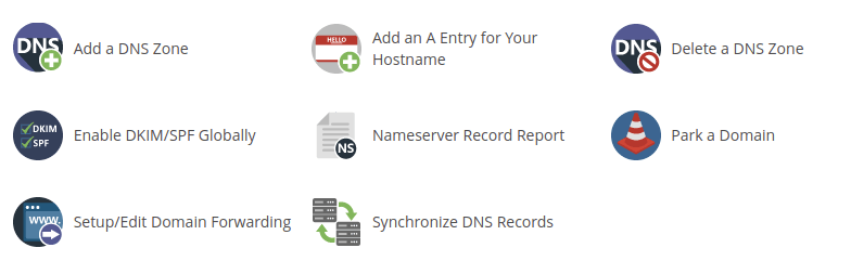 WHM DNS functions