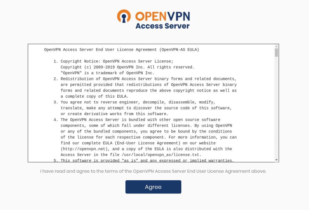accept openvpn license