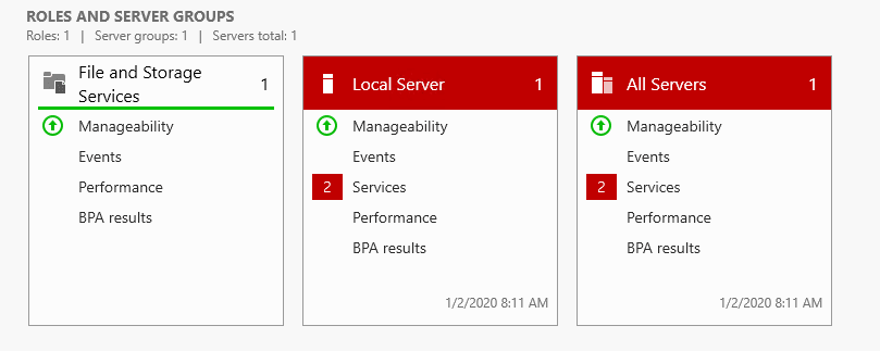 Manage menu