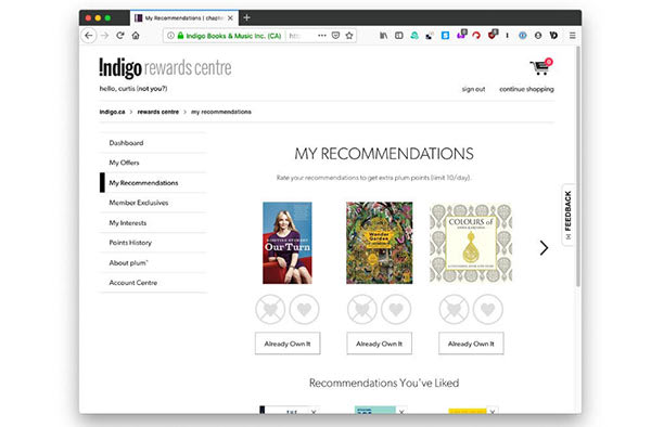Indigo adds rewards to get more books and increase participation