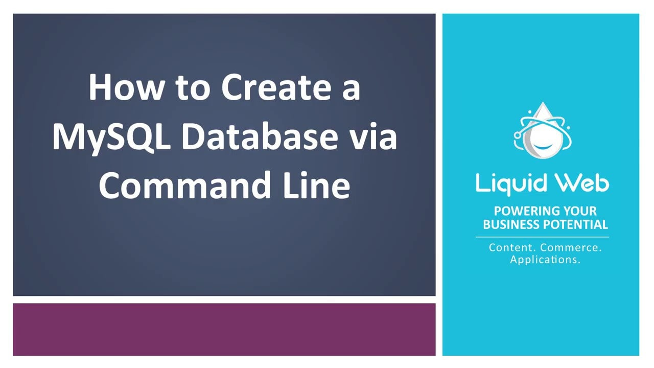 Create a MySQL Database on Linux via Command Line