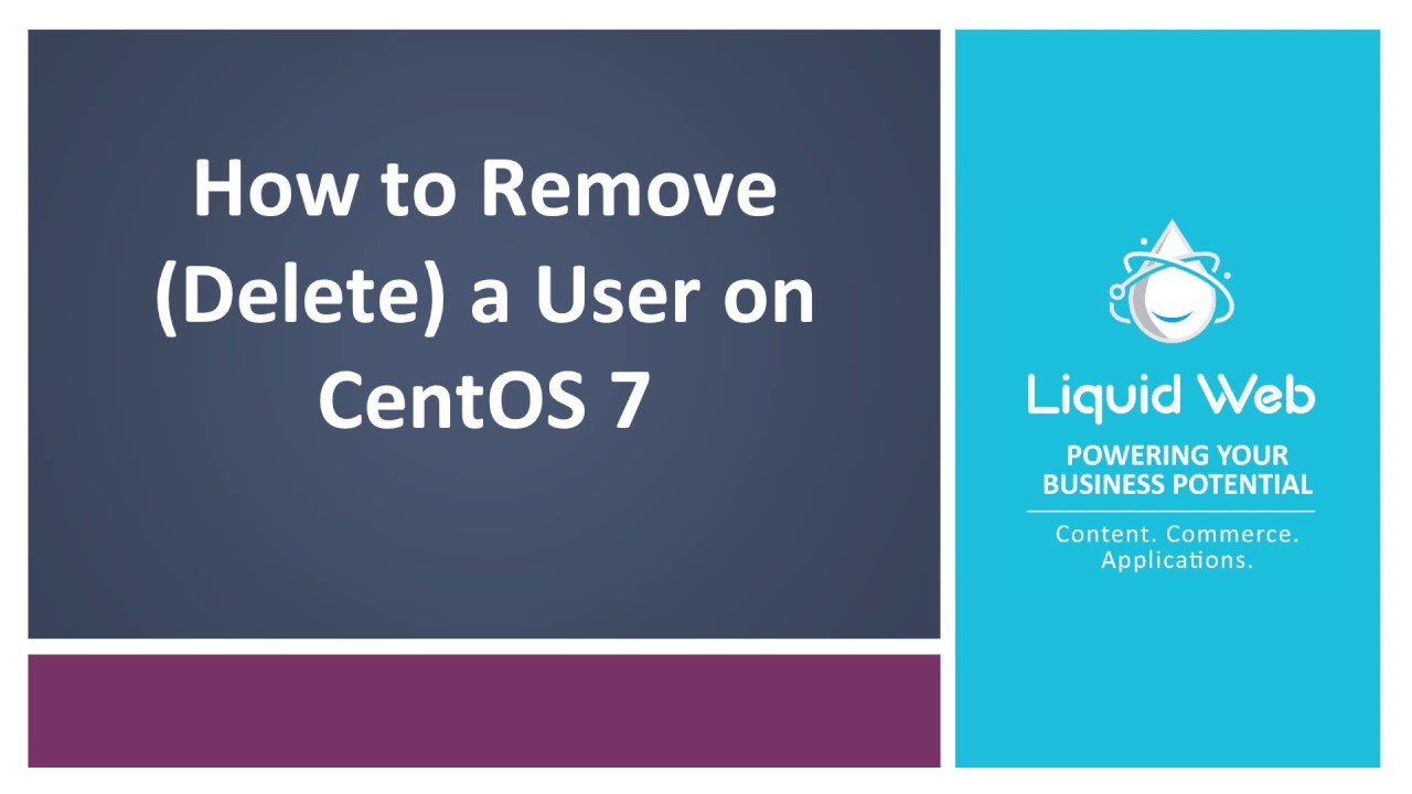 How to Remove (Delete) a User on CentOS 7