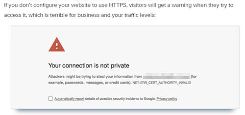 Make sure to generate an SSL certificate to have an HTTPS connection.