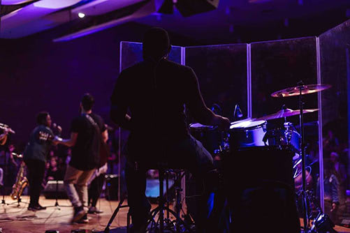 Ronald Caldwell playing drums - City Life Lansing