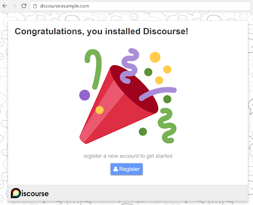 discourse.install