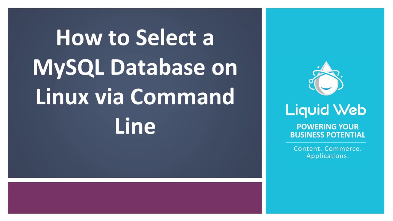 select a database via the command line