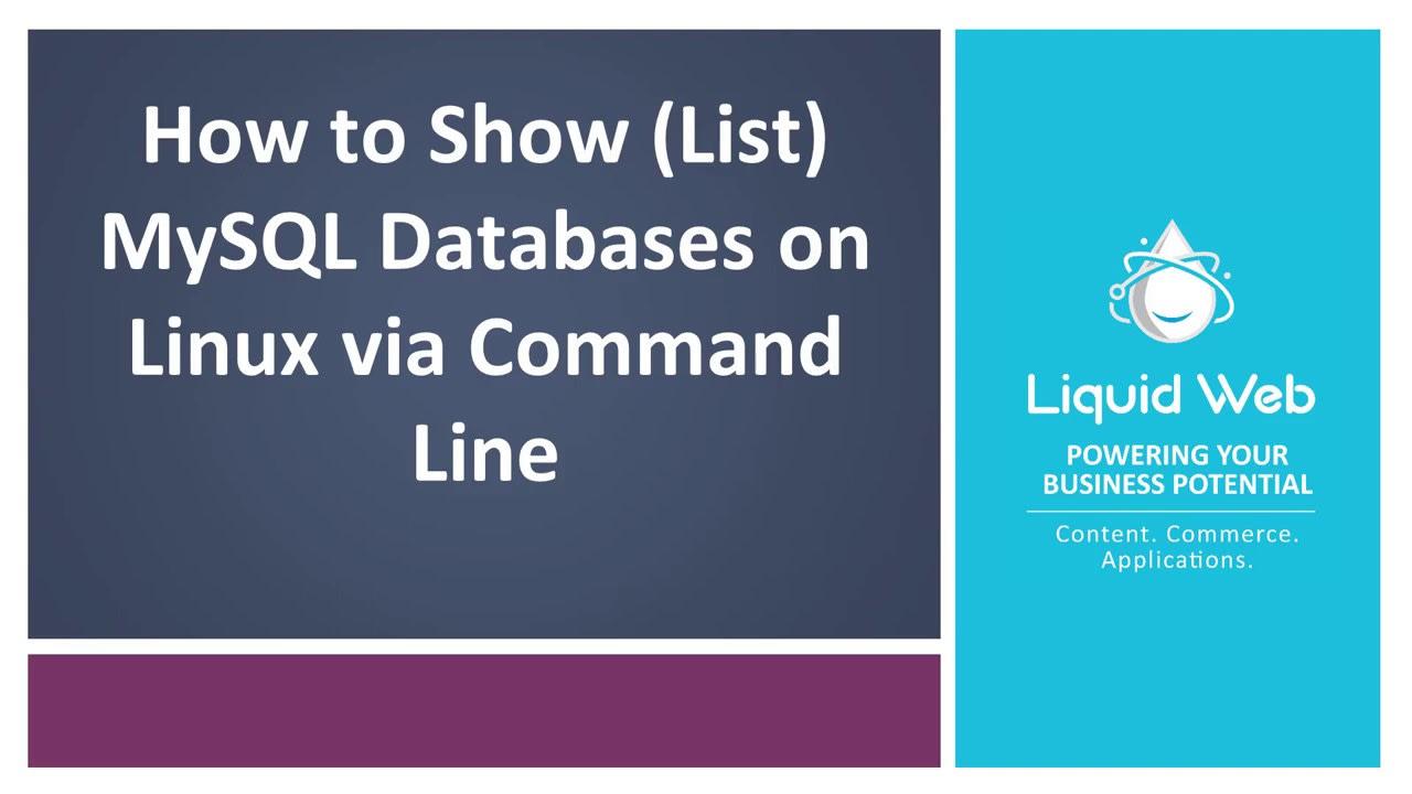 show databases via cli