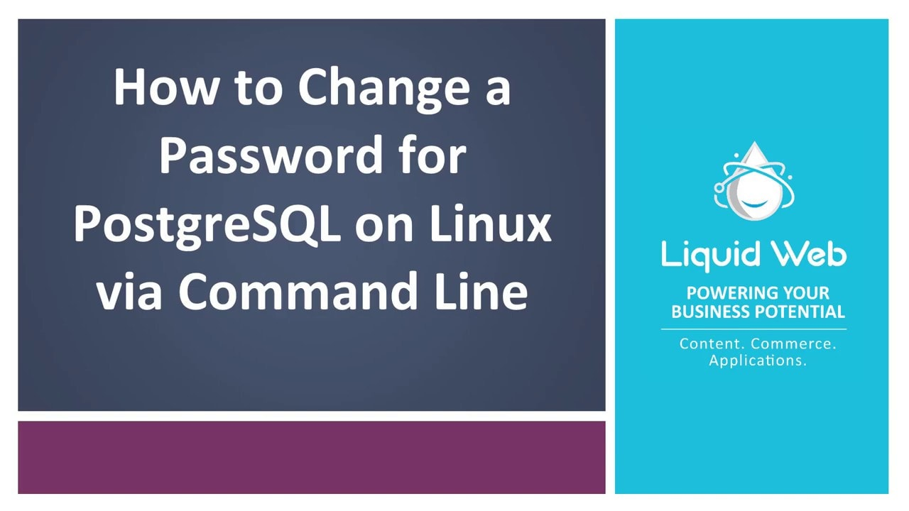 Change a Password for PostgreSQL on Linux via Command Line