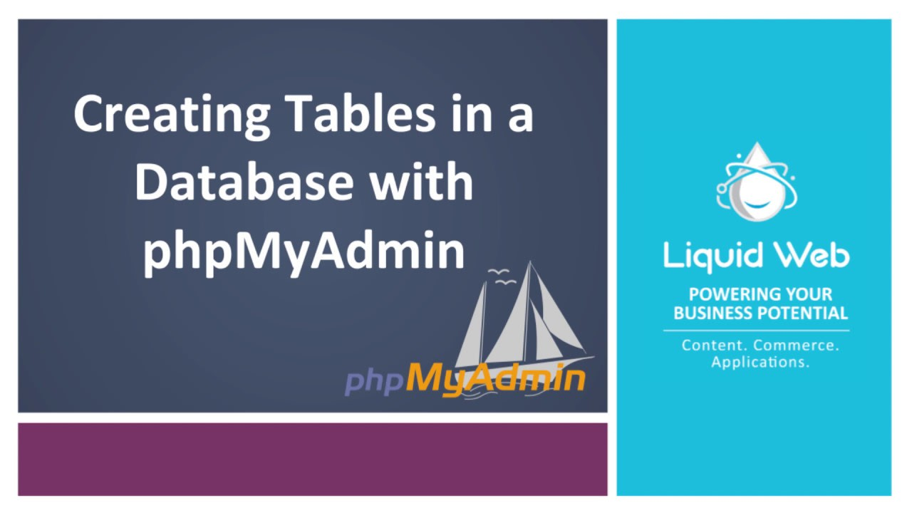 Creating Tables in a Database with phpMyAdmin