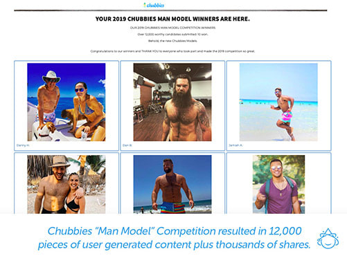 chubbies man model competition