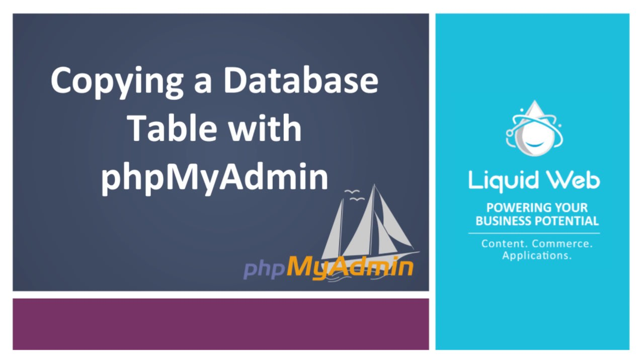 Copying a Database Table with PhpMyAdmin