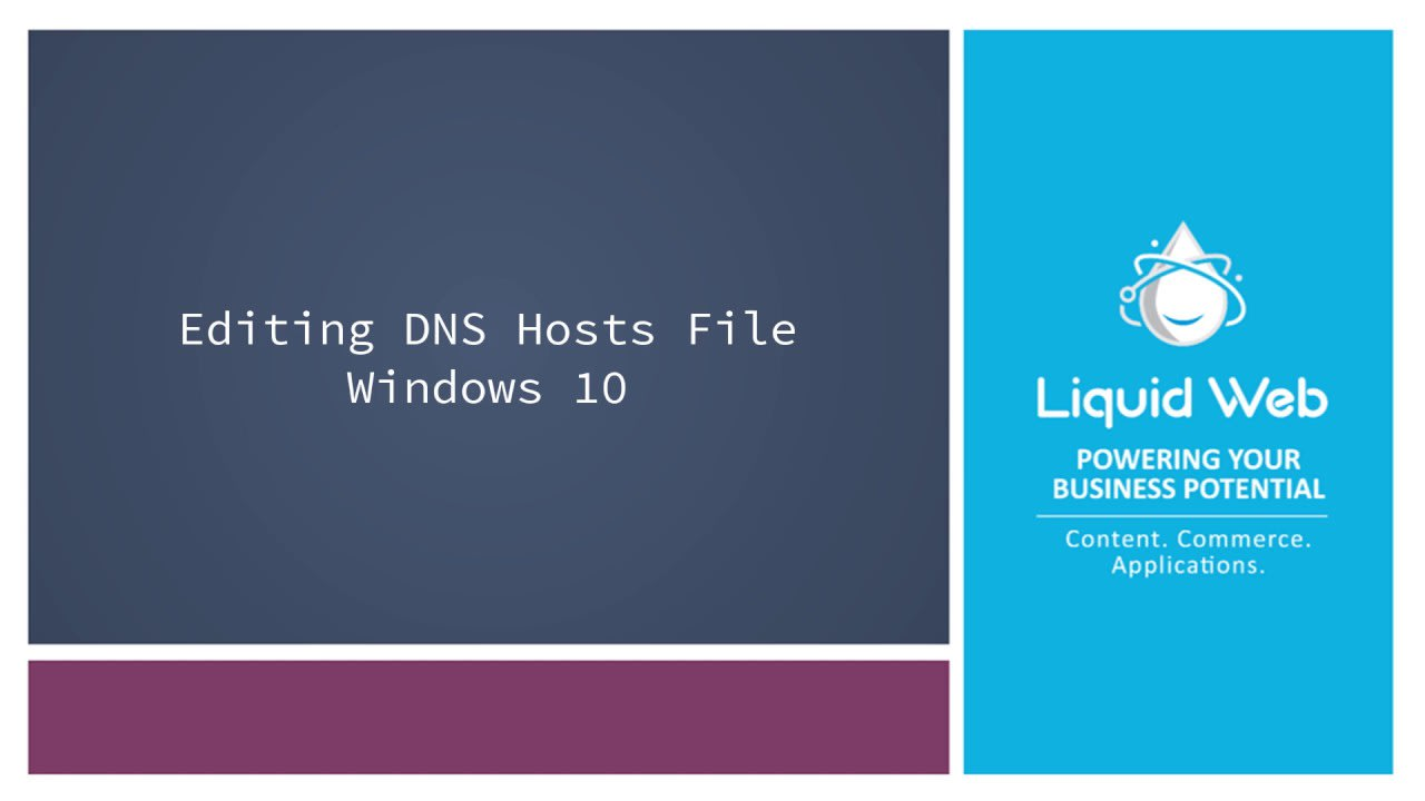How to edit your Windows hostfile