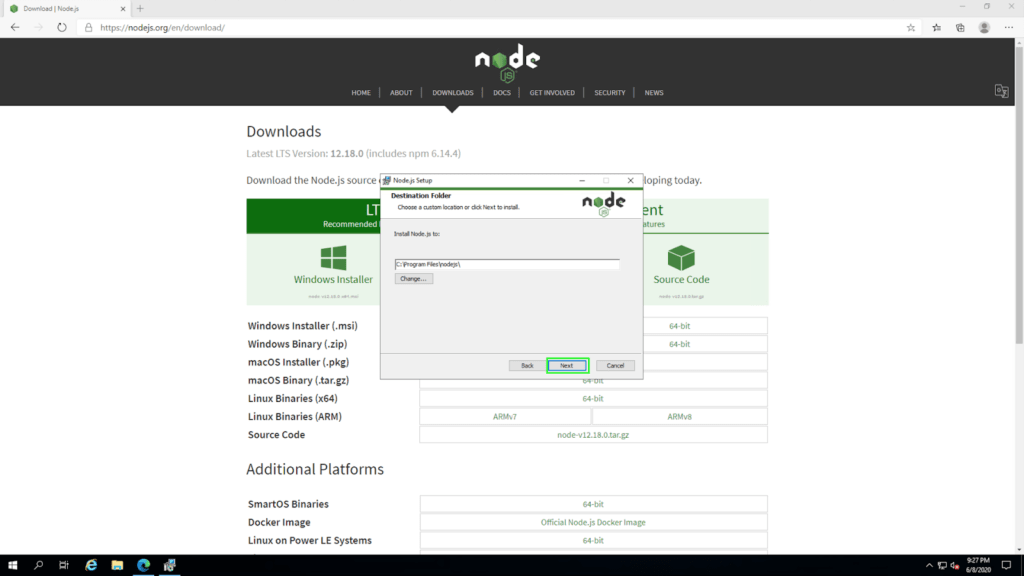 node install05