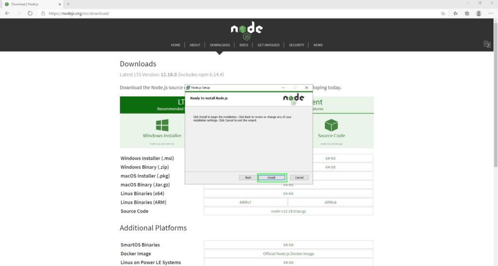 node install08