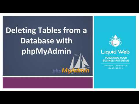 Deleting Tables from a Database with PhpMyAdmin