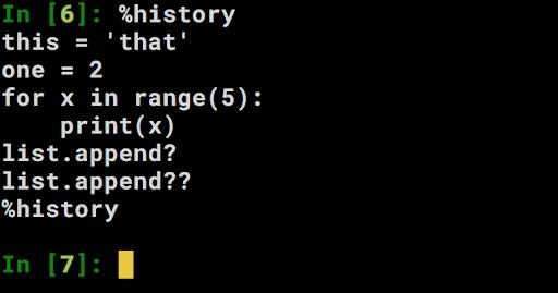 ipython.history